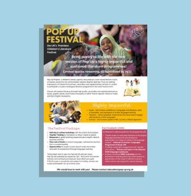 Festival of Multilingual Literature Flyer thumbnail image